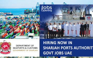 Hiring-Now-in-Sharjah-Ports-Authority-Govt-Jobs-UAE, Sharjah is home to three of the finest deep water harbours in the United Arab Emirates. The location of the ports of Sharjah offers strategic advantage to ships calling at the ports.