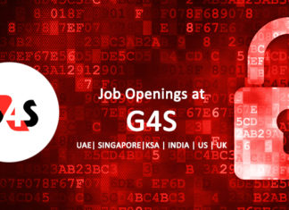 Job Openings at G4S – UAE| Singapore|KSA | India | US | UK