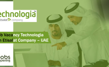 Job Vacancy Technologia – An Etisalat Company – UAE