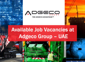 Available Job Vacancies at Adgeco Group – UAE