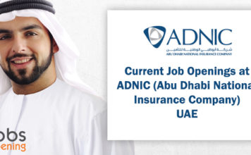 Current Job Openings at ADNIC (Abu Dhabi National Insurance Company) UAE