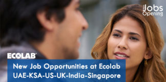New Job Opportunities at Ecolab – UAE-KSA-US-UK-India-Singapore
