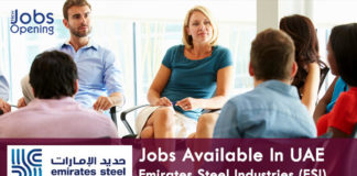 Jobs Available In UAE-Emirates Steel Industries